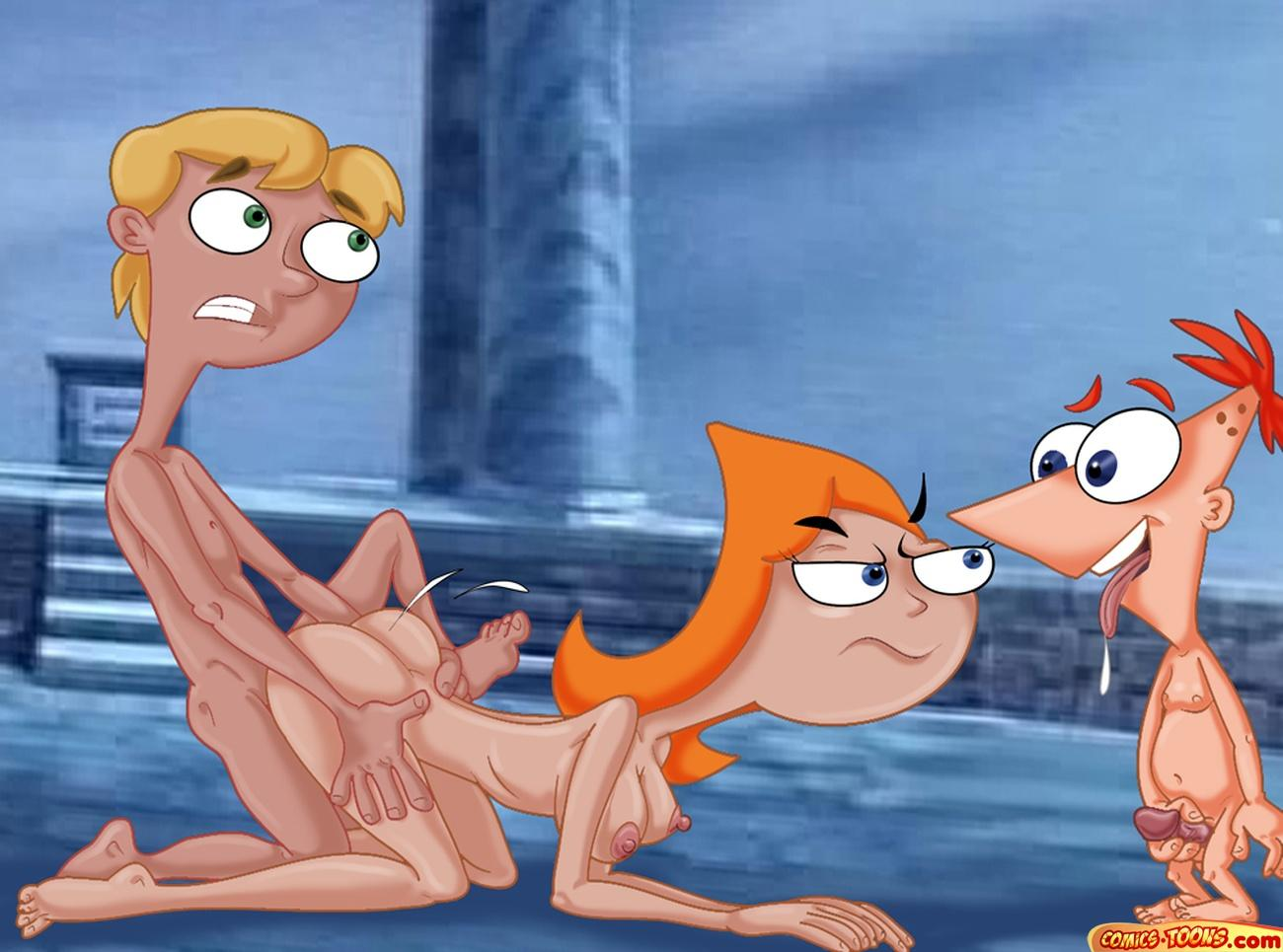naked phineas and candace ferb Dragon ball goku and krillin